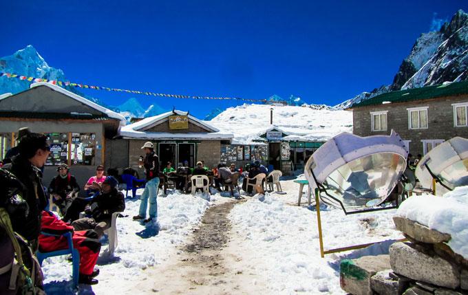 Resting Everest Base Camp