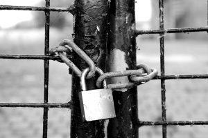 padlocked fence