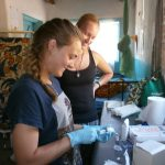 Sarah Ball interning in Malawi