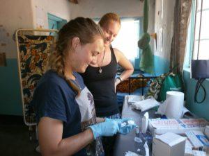 Sarah Ball interning in Malawi