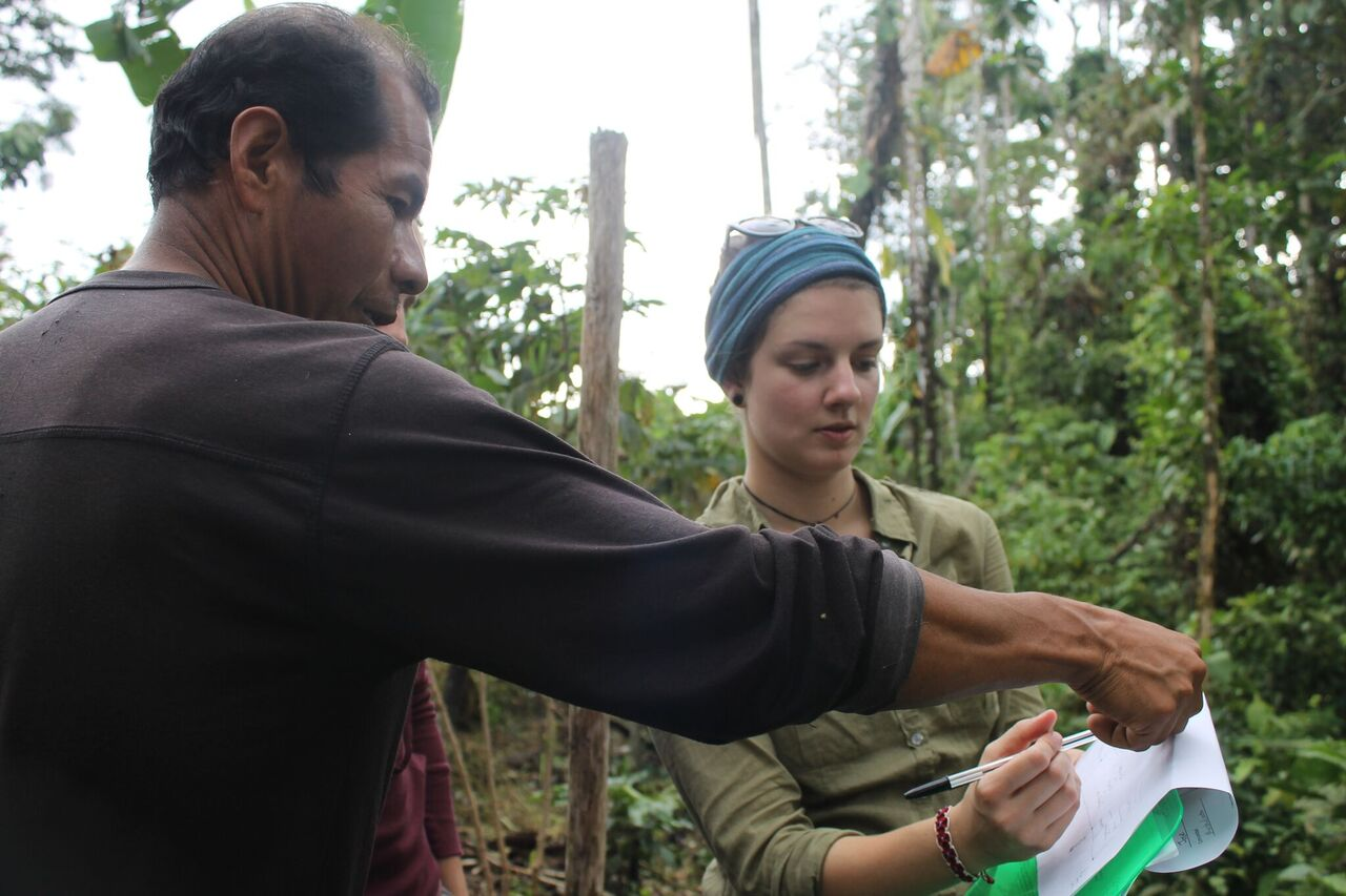Alice hamer on the Environmental Internship in Ecuador