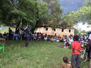 Volunteer Teaching in a School in Kenya