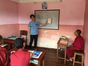 teach buddhist monks nepal 1