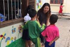 Yeseul, a nutritionist from South Korea, has review the breakfast program for a local school