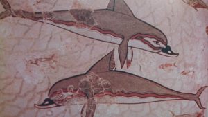 Common Dolphins depicted. Aprox 1600 B.C.