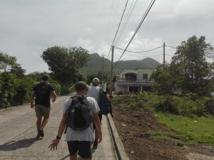 Botond on the Marine conservation project in st Eustatius