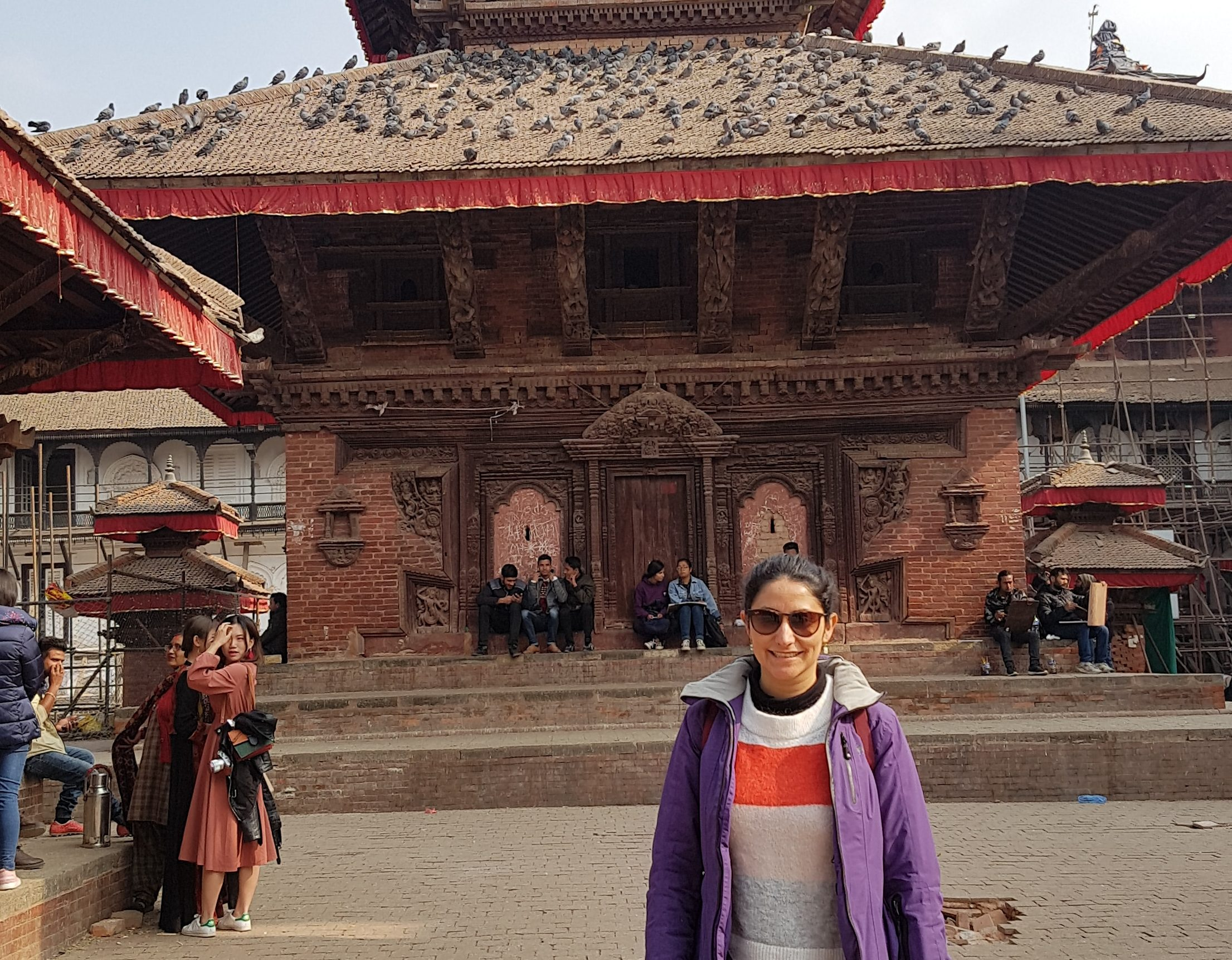 Claudia on the project in Nepal