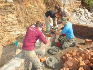 Construction-Nepal-volunteer