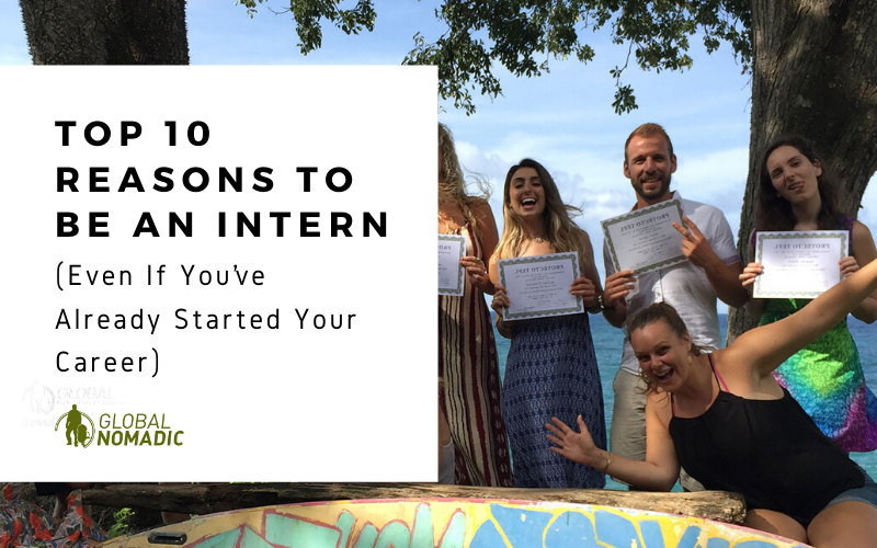 Top ten reasons to be an intern cover